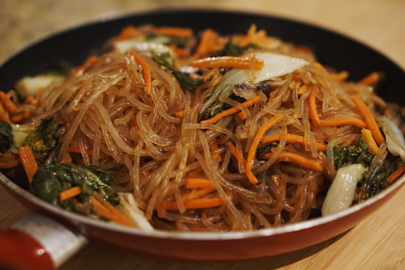 Japchae- Sweet Potato Noodles w/ veggies | I Hart Nutrition